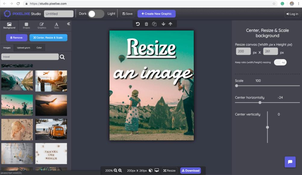Resize image | Pixelixe : Resizing photos online easily